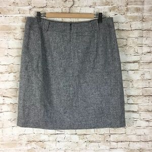 Talbots gray career pencil skirt Sz 14 NWT